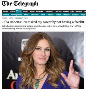 Julia Roberts  I ve risked my career by not having a facelift   Telegraph