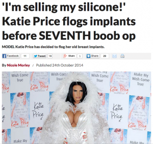Katie Price sells breast implants for charity before seventh boob op   Celebs   Showbiz and TV   Latest Celeb Gossip  TV  Film  Pop and Celeb News   Daily Star   Daily Star