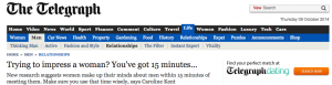 Trying to impress a woman  You ve got 15 minutes...   Telegraph