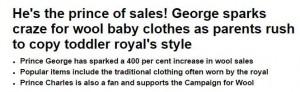 prince george wool