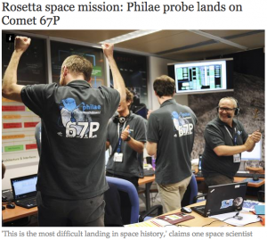 Rosetta space mission  Philae probe lands on Comet 67P   Science   News   The Independent