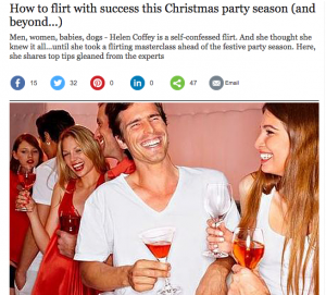 Christmas party  Flirt with success this festive season  and beyond...    Telegraph