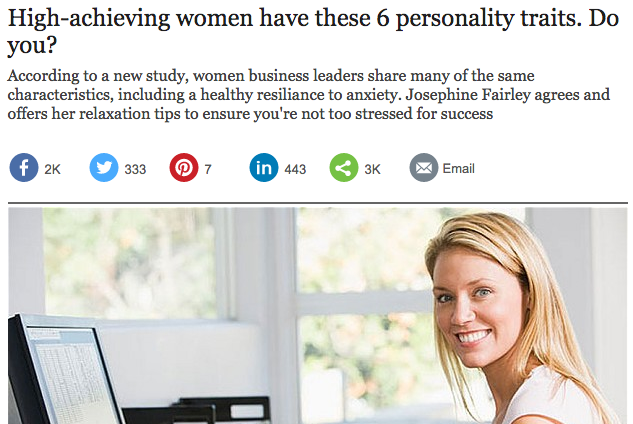 Career advice  Successful women have 6 personality traits. Do you    Telegraph