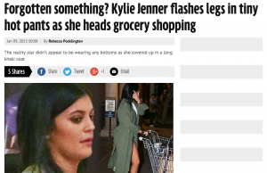 Forgotten something  Kylie Jenner flashes legs in tiny hot pants as she heads grocery shopping   3am   Mirror Online