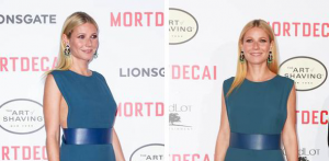 Gwyneth Paltrow flashes some major side boob in daring green gown with thigh high slit   Showbiz   News   Daily Express
