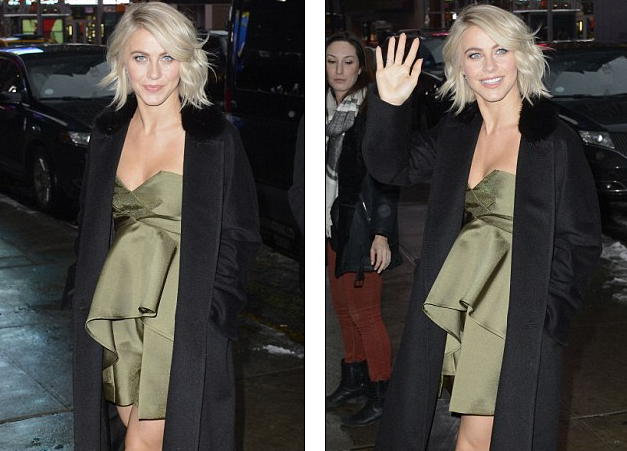 Julianne Hough wears bizarre dress on Good Morning America with brother Derek   Daily Mail Online