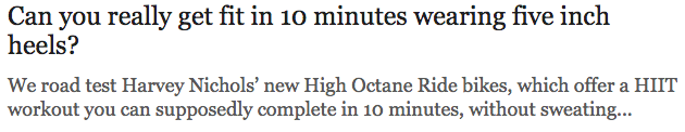 Can you really get fit in 10 minutes wearing five inch heels Telegraph