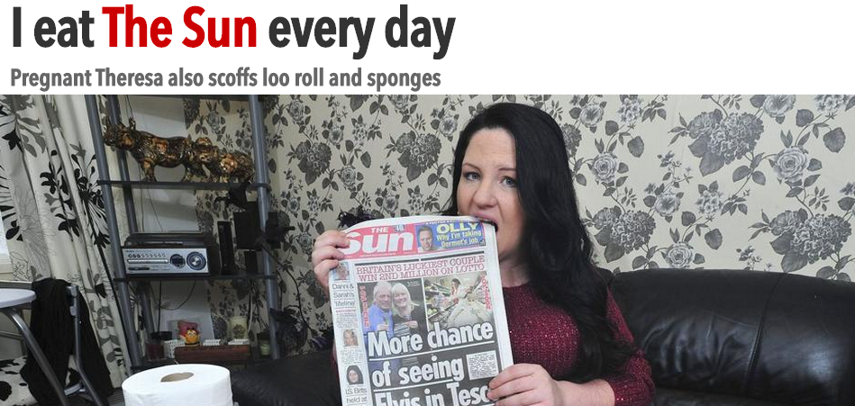 Pregnant Theresa eats The Sun  loo rolls and sponges every day   The Sun  Features