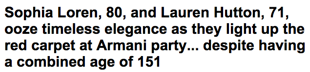 Sophia Loren and Lauren Hutton ooze elegance at Armani party Daily Mail Online
