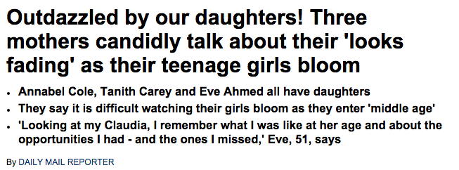 Three mothers candidly talk about their  looks fading  as their teenage girls bloom   Daily Mail Online