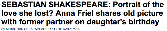 Anna Friel shares picture with David Thewlis on daughter Gracie s birthday  by SEBASTIAN SHAKESPEARE   Daily Mail Online