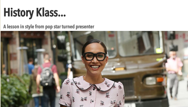 Myleene Klass shows off retro look   The Sun  Showbiz
