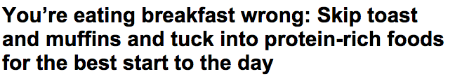Skip toast and muffins and eat protein rich foods for the best breakfast Daily Mail Online