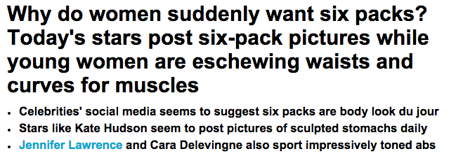 Today s stars post six pack pictures as young women eschew curves for muscles Daily Mail Online